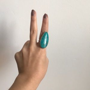 Jewelry - Oval Turquoise + Sterling Silver ring